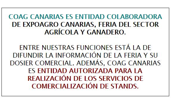 coag canarias aviso expoargo 2