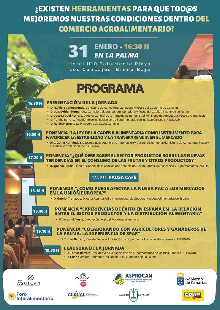 Programa Jornadas La Palma 31.01.2020